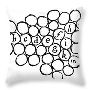 Newtons Principia, Laws Of Motion, 1687 Throw Pillow
