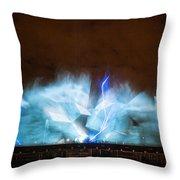 Niagara Falls Water Show Throw Pillow