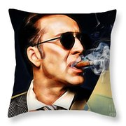 Nicolas Cage Collection Throw Pillow