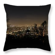 Night At Griffeth Observatory Throw Pillow