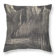 Night In The Yosemite Throw Pillow