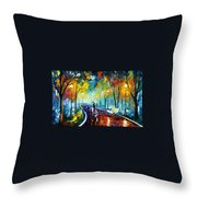 Night Park Throw Pillow