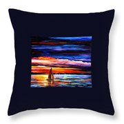 Night Sea Throw Pillow