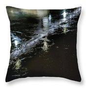 Night Stream Throw Pillow