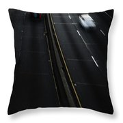 Night Traffic Throw Pillow