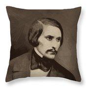 Nikolai Gogol Throw Pillow