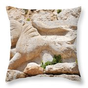 Nimrod Fortress National Park  Throw Pillow