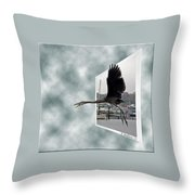 No Fly Zone Throw Pillow