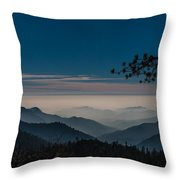 Misty Blue Shades Of Generals Highway 1 Throw Pillow