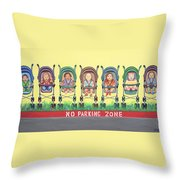 No Parking Zone Throw Pillow