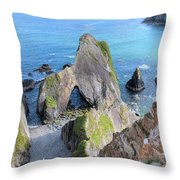 Nohoval Cove - Ireland Throw Pillow