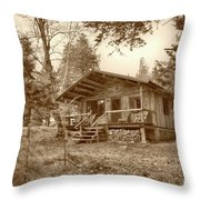 North Maine Cabin Throw Pillow