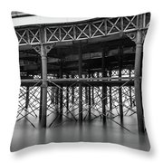 North Pier Blackpool Throw Pillow