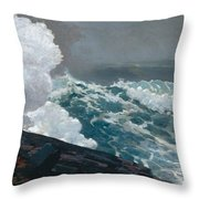 Northeaster, 1895 Throw Pillow