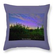 Northern Lights At Mount Pilchuck Throw Pillow