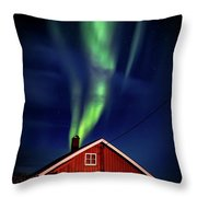 Northern Lights Chimney Throw Pillow