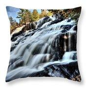 Northern Michigan Up Waterfalls Bond Falls Throw Pillow
