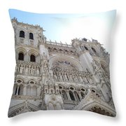 Notre-dame D'amiens Throw Pillow