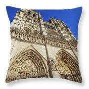 Notre Dame Paris Throw Pillow