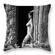 Nude Art Photography By Mary Bassett Throw Pillow