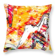 Nude, Love Throw Pillow