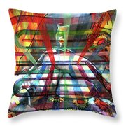 Nude With Wine Glass Throw Pillow