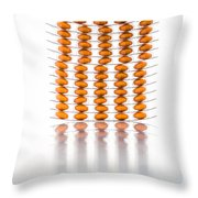 Nutritional Supplement Capsules Throw Pillow