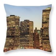 Ny Downtown Throw Pillow