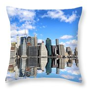 Ny East River Throw Pillow