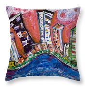 Nyc Impressions 3 Throw Pillow