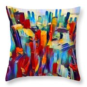 Nyc View Throw Pillow