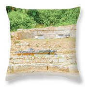 Nympheum Water Fountain To Herdoes Atticus In Olympia Greece  Throw Pillow