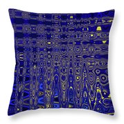 Oak Ball And Metal Plate Abstract Throw Pillow