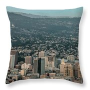 Oakland California Skyline Throw Pillow