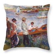 Oarsmen At Chatou Throw Pillow