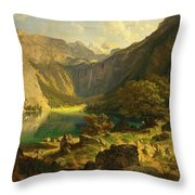 Obersee. Bavarian Alps Throw Pillow