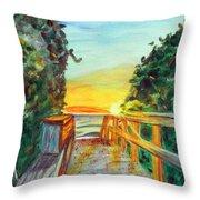 ocean / Beach crossover Throw Pillow
