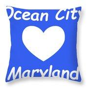 Ocean City Maryland Throw Pillow