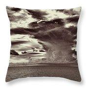 Ocean God Clouds Throw Pillow