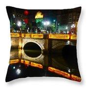 O'connell Bridge Throw Pillow