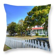 Ocracoke Lighthouse, Ocracoke Island, Nc Throw Pillow