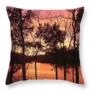Oct. Sunset Throw Pillow
