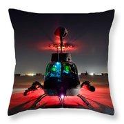Oh-58d Kiowa Pilots Run Throw Pillow