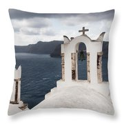 Oia Santorini 0989 Throw Pillow
