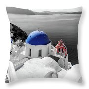 Oia, Santorini / Greece Throw Pillow