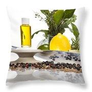 Oil Mixture Of Essential Oils For Aromatherapeutic Use Throw Pillow