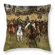 Oklahoma Land Rush, 1891 Throw Pillow