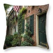Old City Philadelphia Throw Pillow