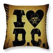 Old D.c. Throw Pillow