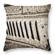 Old Dodge Grille Throw Pillow